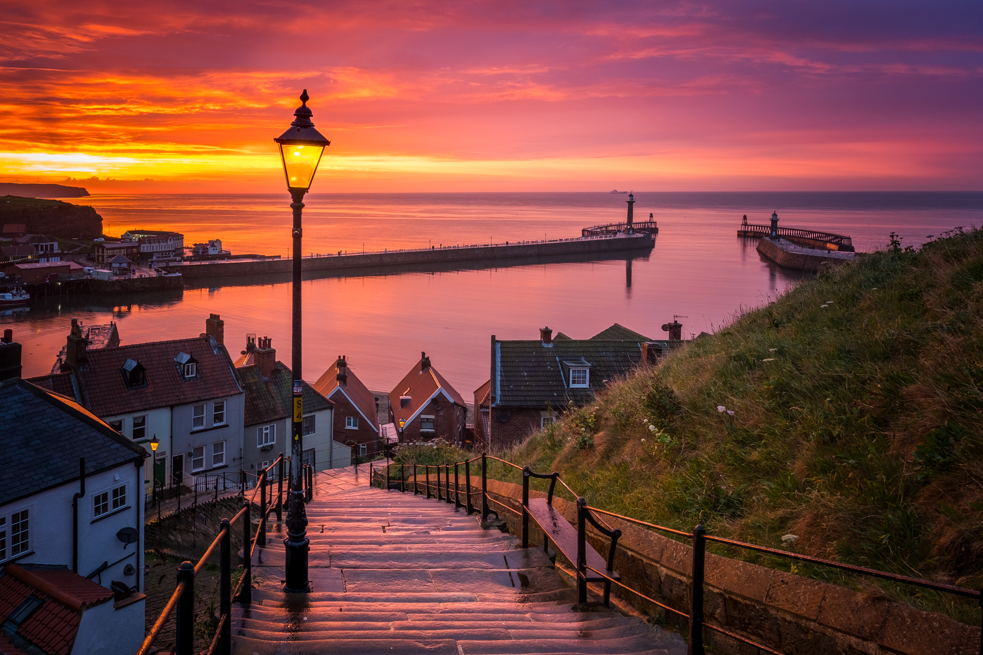 Whitby 199 Steps By Glenn Kilpatrick